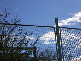 ograda i oblaci...